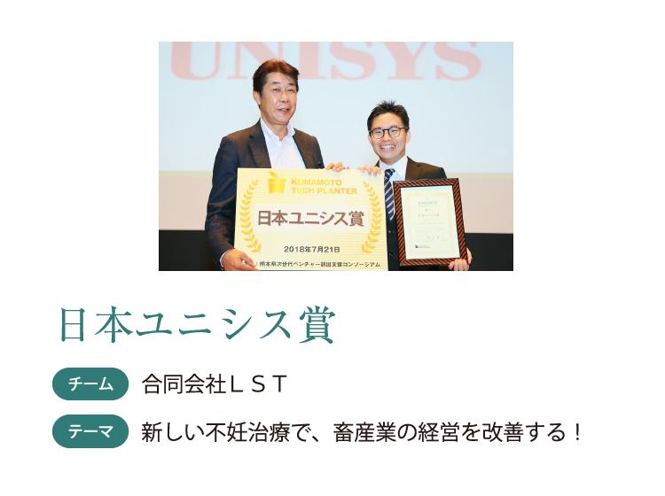 日本ユニシス賞 チーム 合同会社LST テーマ 新しい不妊治療で、畜産業の経営を改善する!